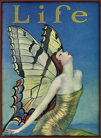 Life magazine cover by Wladyslaw Benda (1923).Magazine Covers, Fairies, Butterflies, Life Magazines, Illustration, Benda, Covers Art, Art Deco, Magazines Covers