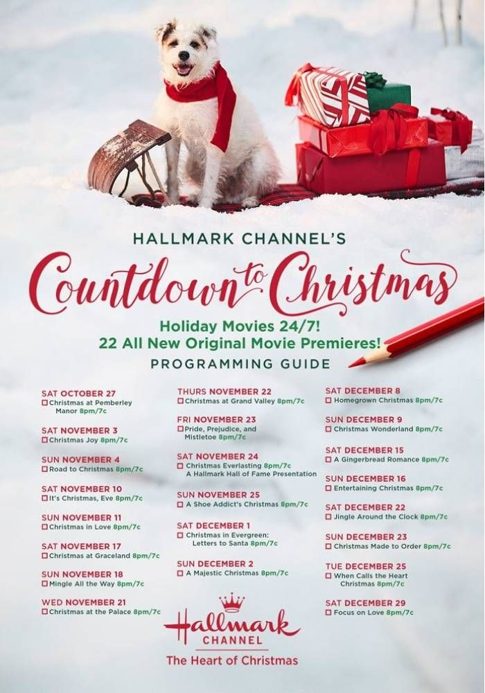 Hallmark Channel Countdown To Christmas Schedule 2018 Passion4savings Hallmarkchan Hallmark Channel Christmas Movies Hallmark Christmas Movies Holiday Movie