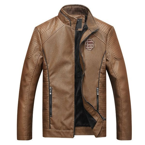 Men/'s SAVAGE Tan Washed Lambskin Fitted Motorcycle Biker Style Leather Jacket