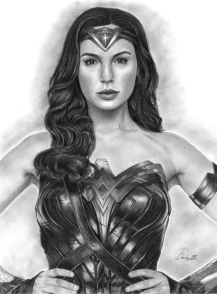 WONDER WOMAN-high quality prints of my pencil works ...