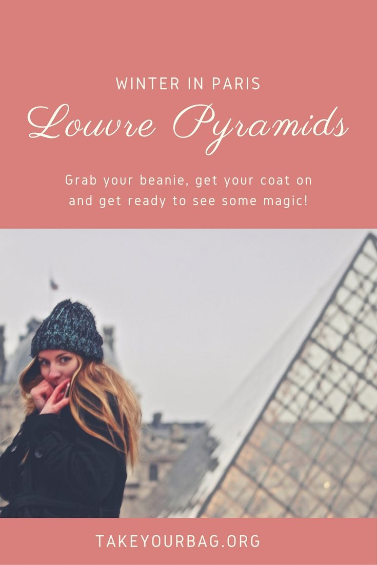 Winter in Paris is magical! Check out the Louvre Pyramids in winter time, it will sweep you off your feet! #Paris #Louvre #LouvrePyramids #Winter #WinterInParis (1)