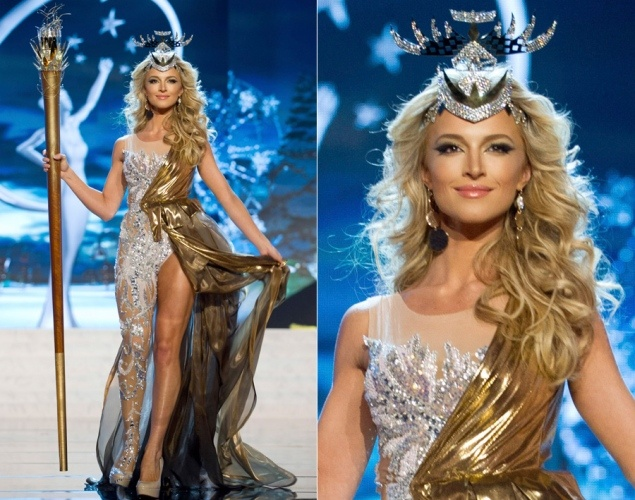 Miss South Africa Melinda Bam, national costume, miss universe