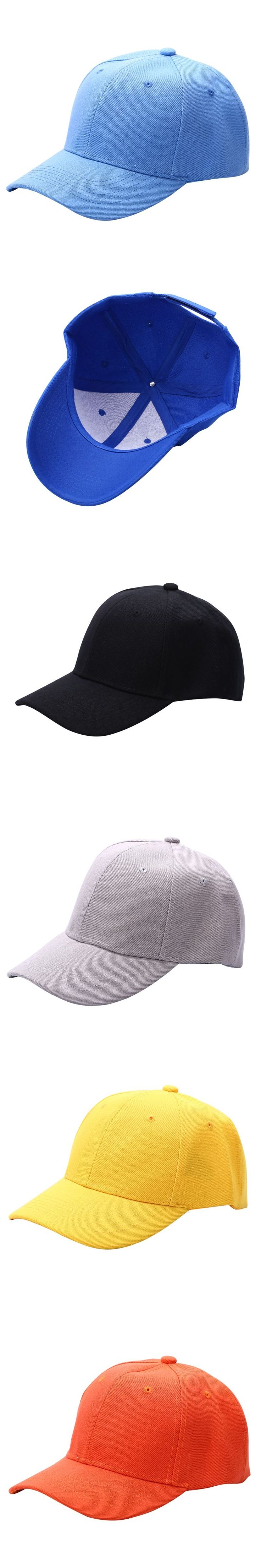 New Men Women Plain Baseball Cap Unisex Curved Visor Hat Hip-Hop Adjustable Peaked Hat Visor Caps Solid