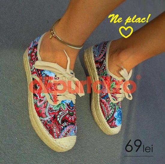 Vara asta se poarta espadrile, pantofi de panza cu siret, colorati, dantelati, comozi si la preturi mici!