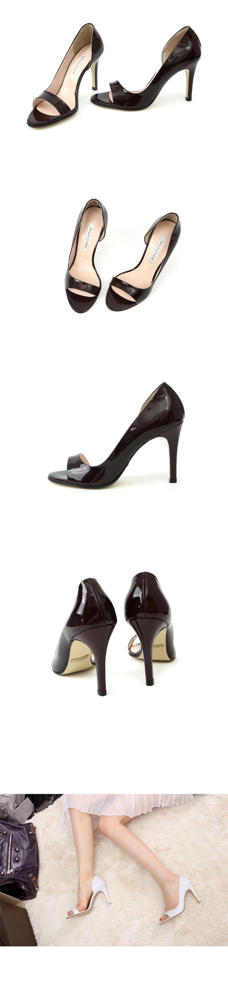 Весна 2014 новая мода на высоких каблуках лакированных сандалии голова рыбы полый римского стиля минимализма обувь удобная обувь - Taobao