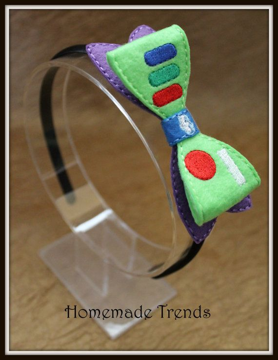 Toy Spaceman 3D Bow Hard Headband by HomemadeTrends on Etsy, $7.50