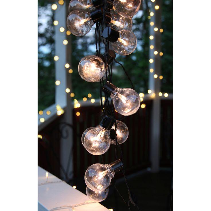 Party Light 16 lamper, svart i gruppen Belysning / Lamper / Utebelysning hos…