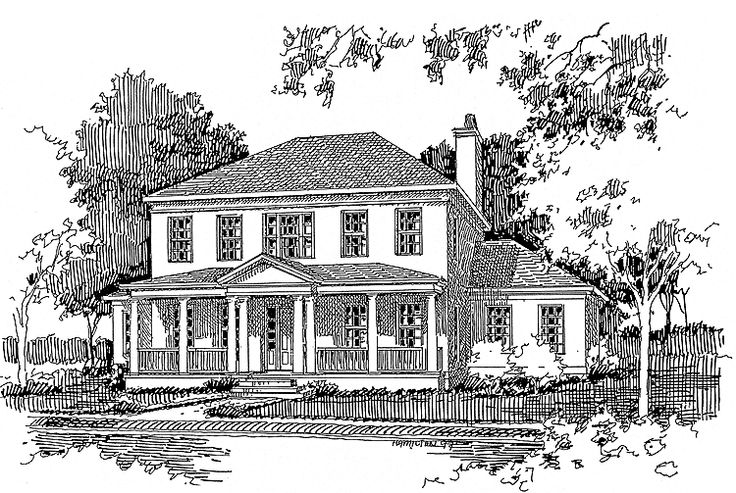 Greek revival house plan with 4028 square feet and 7 for One story greek revival house plans