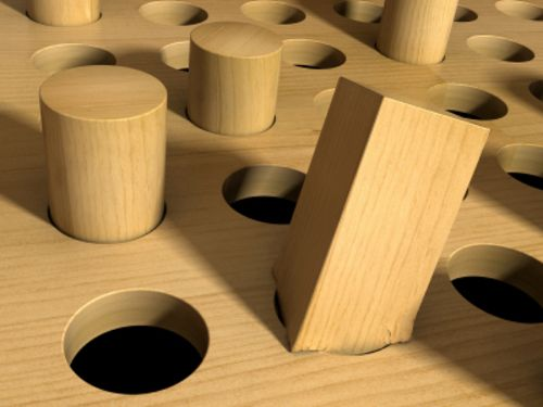 """Autists are the ultimate square pegs, and the problem with pounding a square peg into a round hole is not that the hammering is hard work. It's that you're destroying the peg."" -Paul Collins"