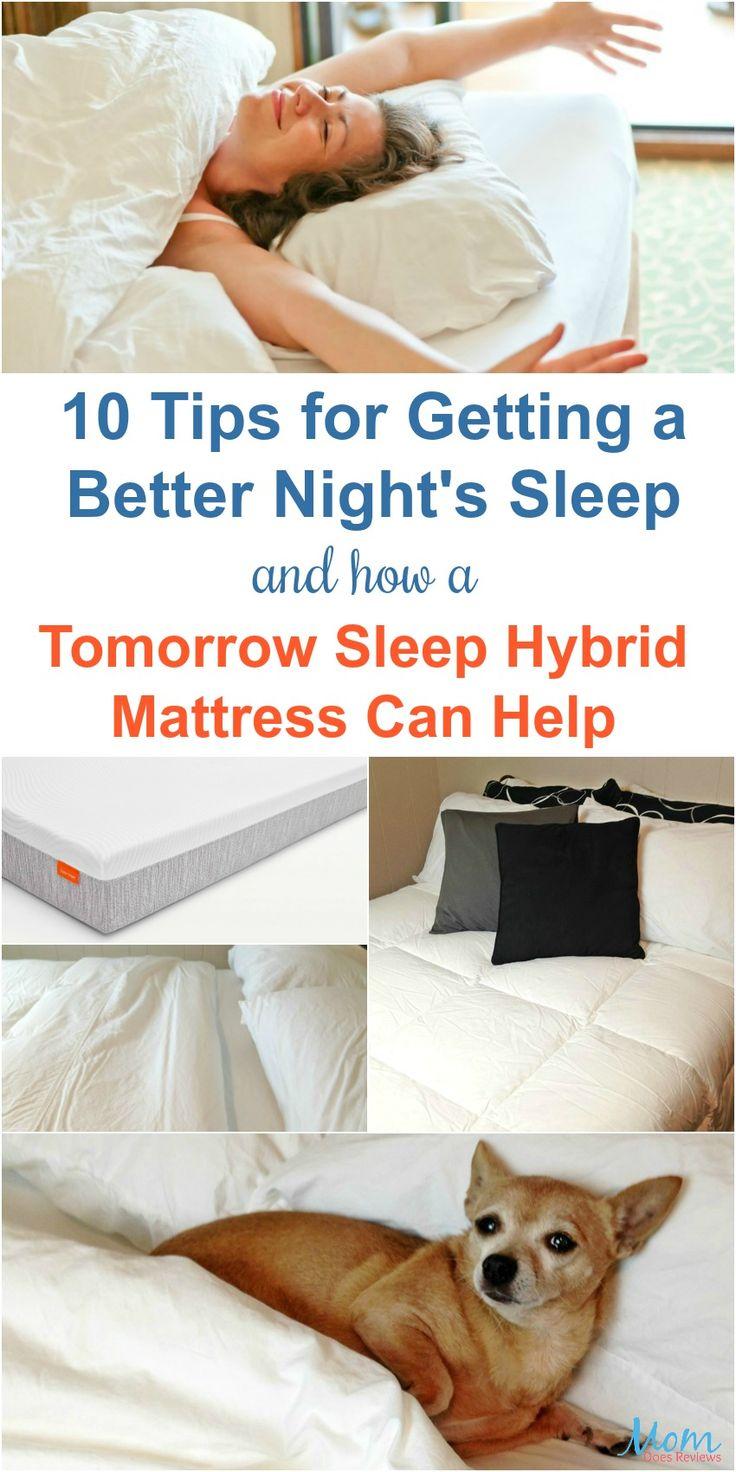 10 Tips for Getting a Better Night's Sleep and How a Tomorrow Sleep Hybrid Mattress Can Help #tomorrowsleep banner
