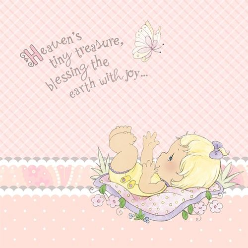 Precious Moments Baby Shower Party Supplies: Precious Moments Girl Baby Shower