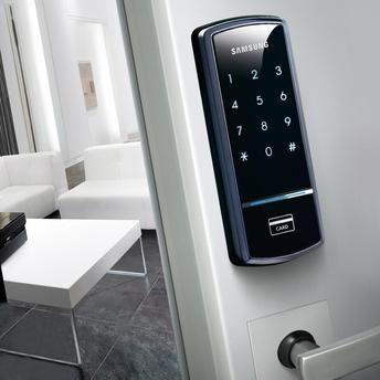 Fechadura Digital Shs-1321 Samsung Inteligente para 20 cartões