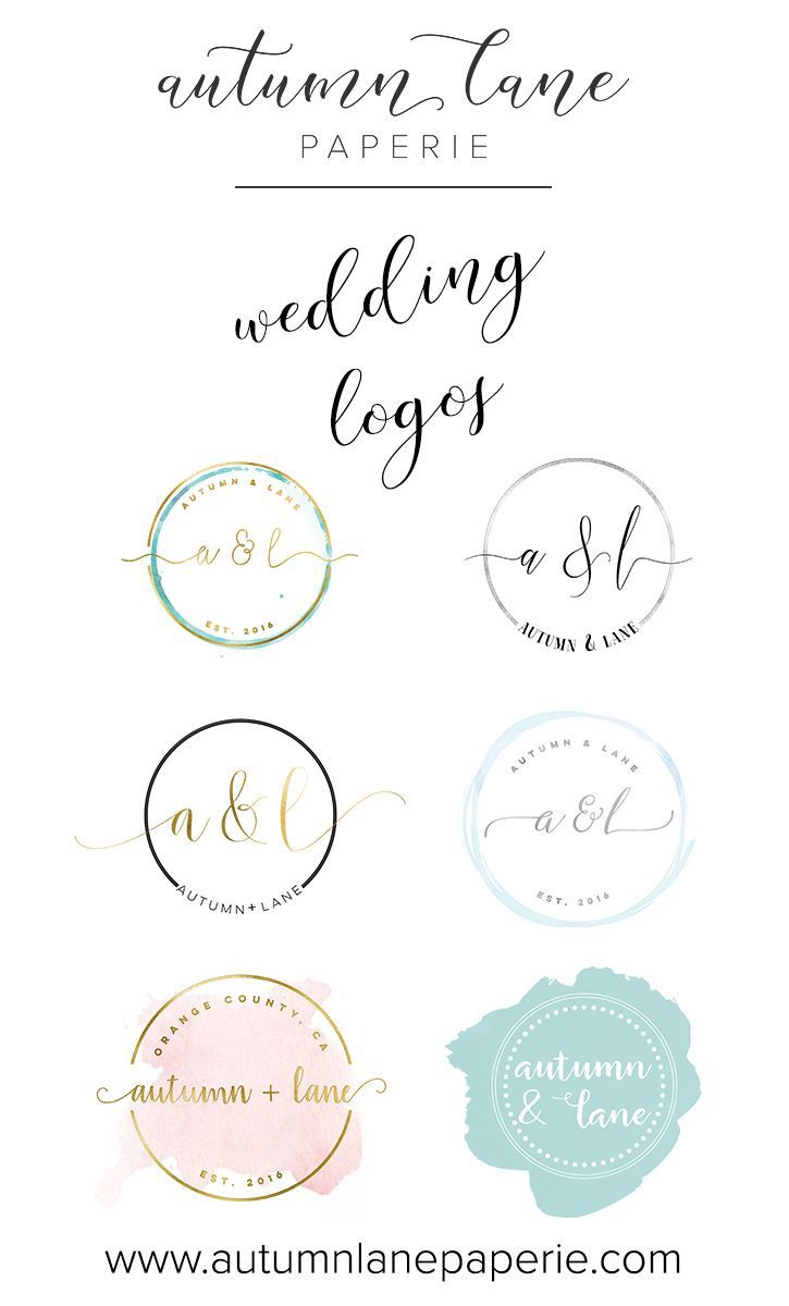 Wedding Logo Wedding Branding Wedding Brand Identity Themed