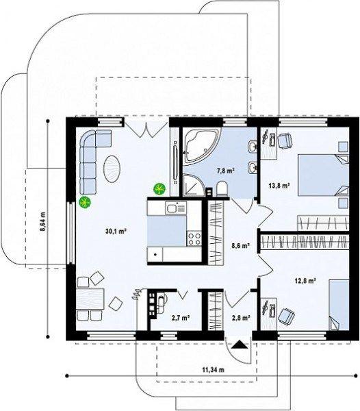 proiecte de case cu amprenta mica la sol small footprint house plans 6