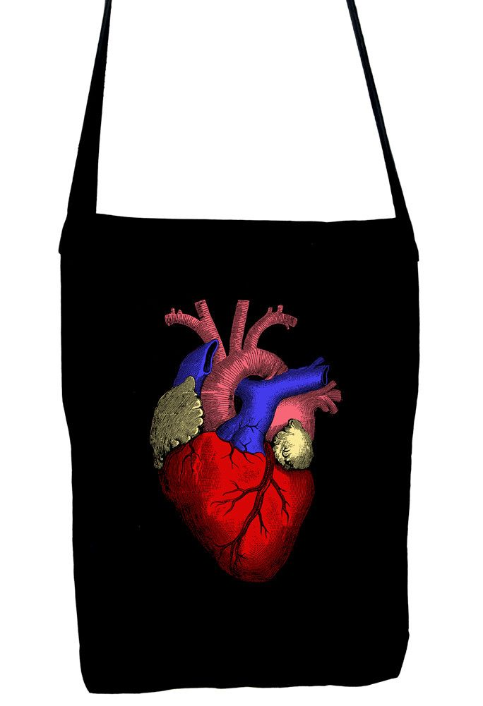 Anatomical Human Heart Sling Bag Medical Oddities Book Bag | Heart ...