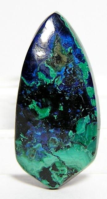 Chrysocolla Malachite Azurite Stone Cabochon 55 by FenderMinerals, $10.00