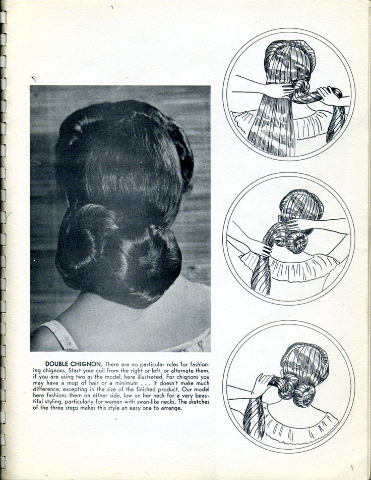 1940's hairstyle for women with long hair; click on the link - there's a whole scanned-in book for very long hair styles!