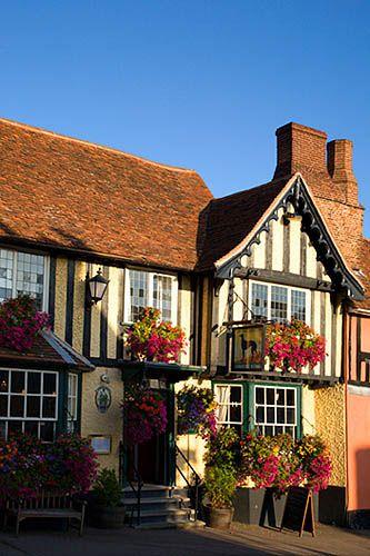 The Greyhound Pub, Lavenham, Suffolk, England, UK