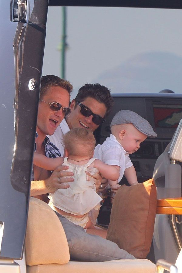 They love little hats. | Neil Patrick Harris And David Burtka Being Awesome Dads