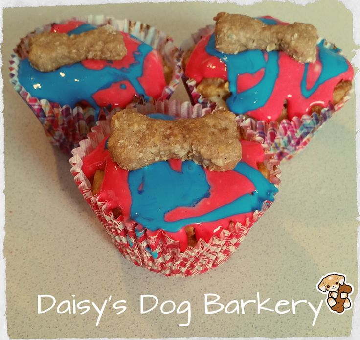 Pup cake- carrot pup cake with cream cheese icing. www.facebook.com/daisysdogbarkery