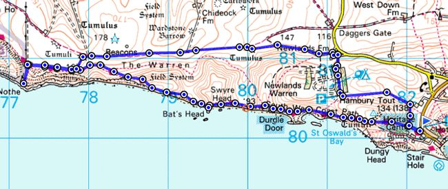 Visit the spectacular Jurassic Coast and enjoy this circular walk around Durdle Door and White Nothe in Dorset. Length of route: Approx 7 miles, allow 2.5 hours; Maps: OS Explorer Map (1:25 000) – OL15 Purbeck and South Dorset; alternatively try OS MapFinder for iOS and Android or plot your route on OS getamap. Find out more on our blog: http://blog.ordnancesurvey.co.uk/2013/08/walk-of-the-week-durdle-door-and-white-nothe/