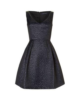 French Connection A-lijn jurk met glans en reliëf • de Bijenkorf