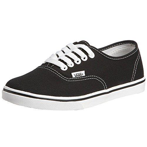Vans Unisex Authentic Lo Pro Skate Shoe (38.5 M EU / 8 B(M) US Women / 6.5 D(M) US Men, Black/True White)