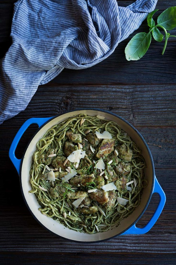Pesto Pasta with Chicken is a flavorful meal that's ready in under 30 minutes! Leftovers are satisfying and filling, making this perfect for busy weeks.