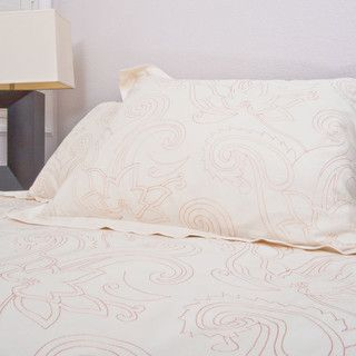 Embroidered Designer Duvet Cover, The Dolores Coral - contemporary - duvet covers - san francisco - by Crane & Canopy