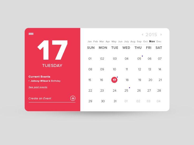 Calendar Design Website : Best images about ui design item calendar on