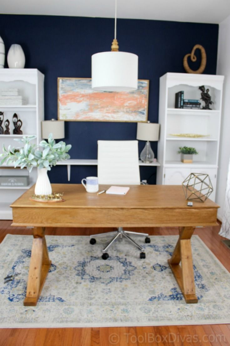 Home Office Makeover on a Budget   Tool Box Divas   Home office ...