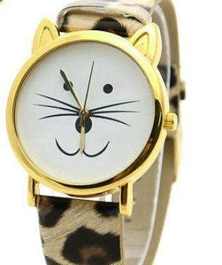 Cat leopard print watch http://www.peachiecream.co.uk/#!watches/cybi