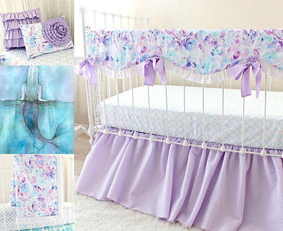 Baby Girl Crib Bedding Set In Lilac, Baby Girl Purple Bedding Sets