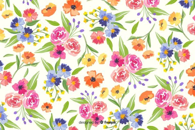 Natural Background With Colorful Painted Free Vector Freepik Freevector Background Pattern In 2020 Flower Painting Flower Backgrounds Black Texture Background