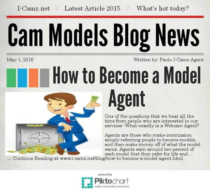 Latest article from www.i-camz.net Cam Models Blog - Need to Cam? Not Certain How? Make BIG Money as a #WebcamAgent!!! www.i-camz.net/blog/how-to-become-a-model-agent.html