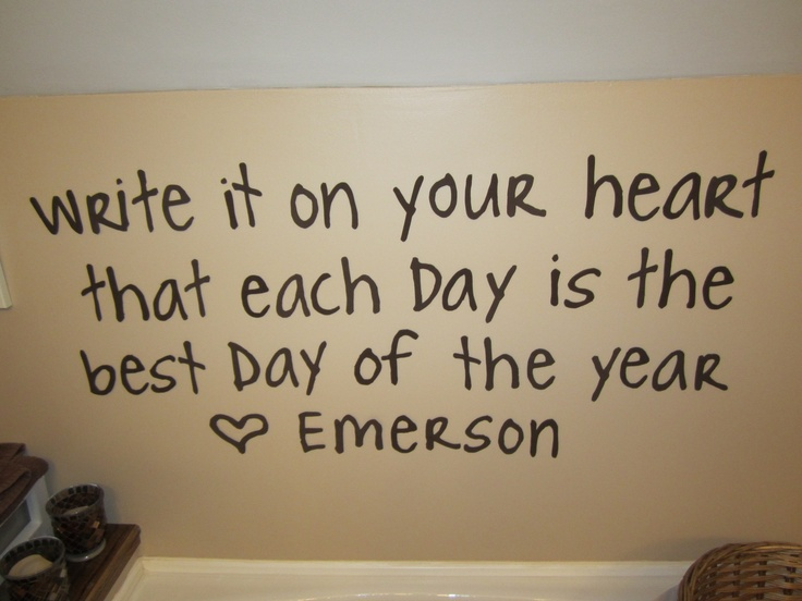 easy to make wall quotes using foam and an xacto knife: Life Quotes, Good Thoughts, Emerson Quotes, Quotes Inspiration, Cute Quotes, Art, Wall Quotes, Quotable Quotes, Favorite Quotes