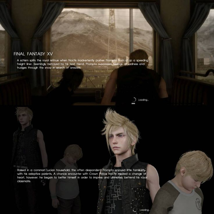 """(@niqius) on Instagram: """"Episode Prompto's loading screens with some story and background for my dear sunshine ☀️…"""""""