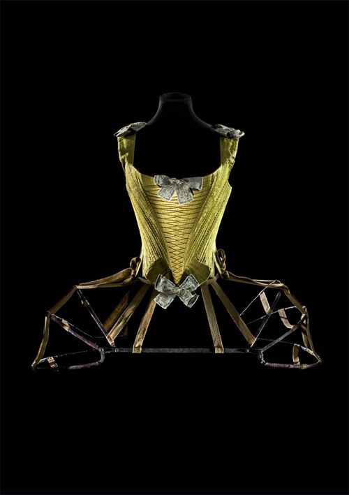 Stays ca. 1740-60 and panniers ca. 1770, From Les Arts Decoratifs