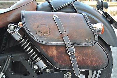 Saddle Bag left&right Para Harley Davidson Dyna Street Bob Fat Bob Hecho En Italia
