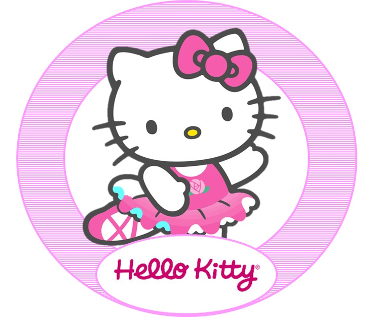 103 best images about tema botez hello kitty on pinterest for Hello kitty cupcake topper template