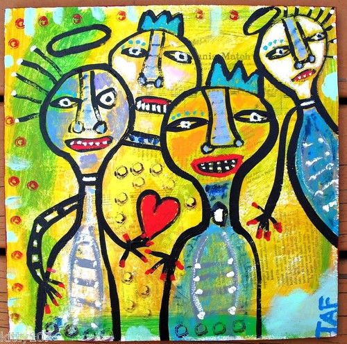 """""""ANGELS & KINGS"""" a basquiat inspired piece by me!"""