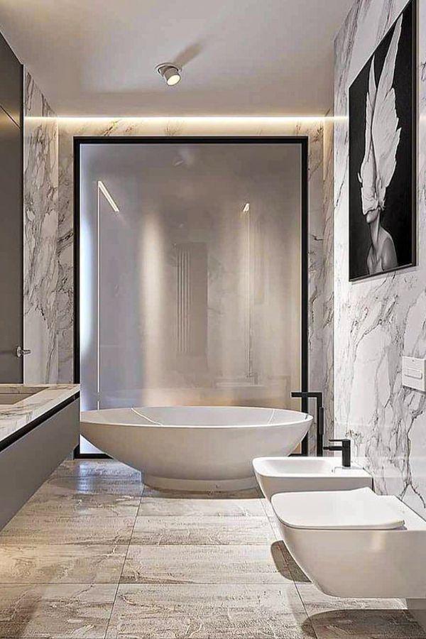 40 Amazing Luxury Bathroom Design Ideas In 2020 Part 7 Bathroom Design Luxury Modern Bathroom Modern Bathroom Decor