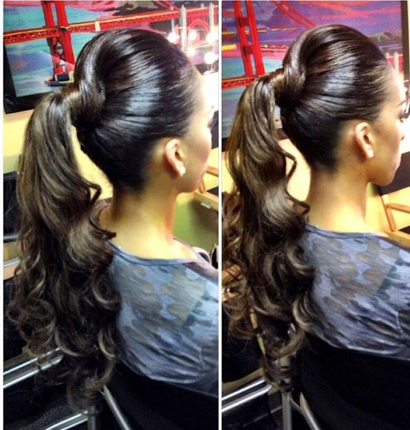 33 best images about Buns bangs ponytails &amp updos!! on - Cute Curly Weave Hairstyles