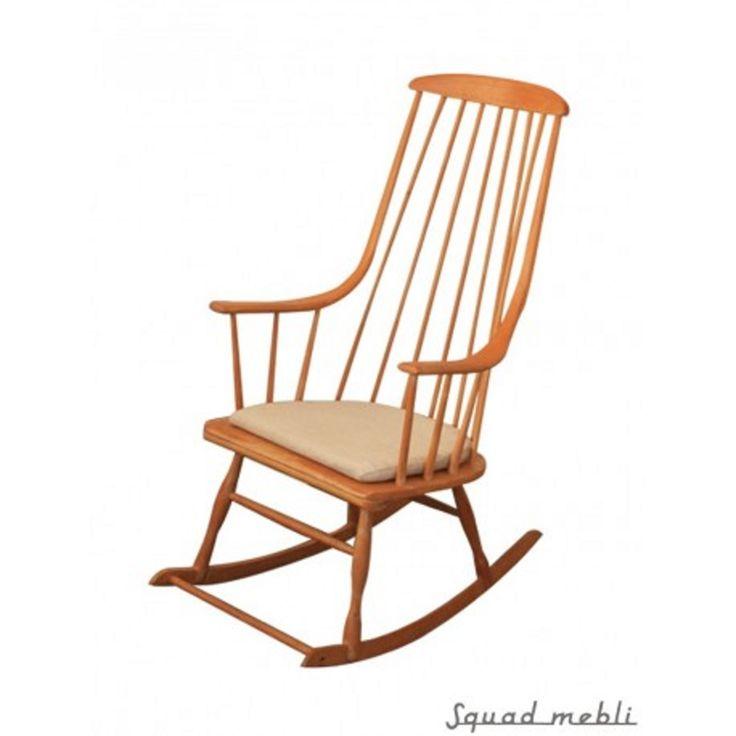 Grandessa to kultowy projekt fotelu bujanego zaprojektowany przez Lenę Larsson w 1958 roku. Typowy przykład skandynawskiego wzornictwa przemysłowego. #vintage #vintagefinds #vintageshop #forsale #design #midcentury #midcenturymodern