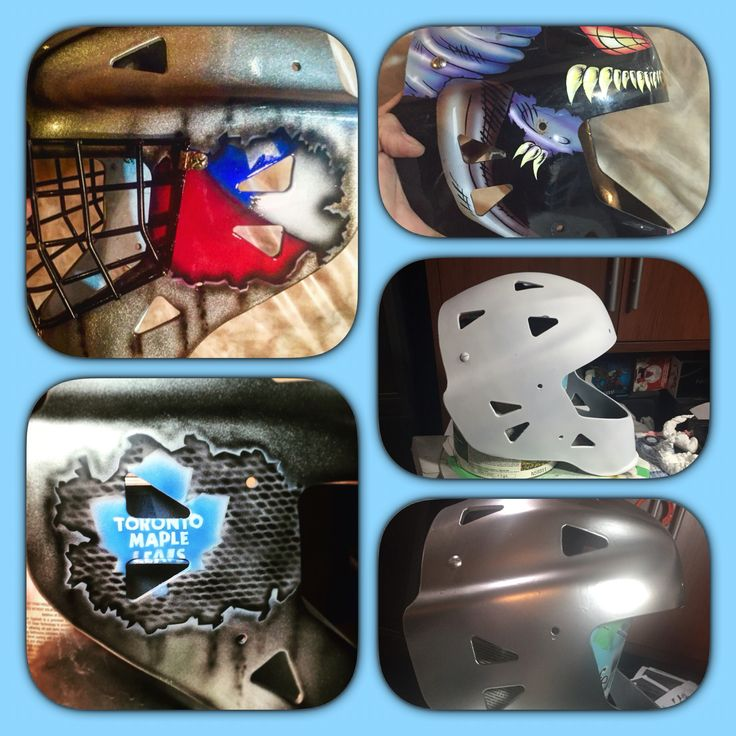 S cons shot at life for this old goalie mask... Start to finish .... Airbrushed