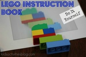 {Do It Yourself} Lego Instruction Book - Kids Activities Blog. Sort of self explanatory, but a good idea to keep in mind nonetheless.