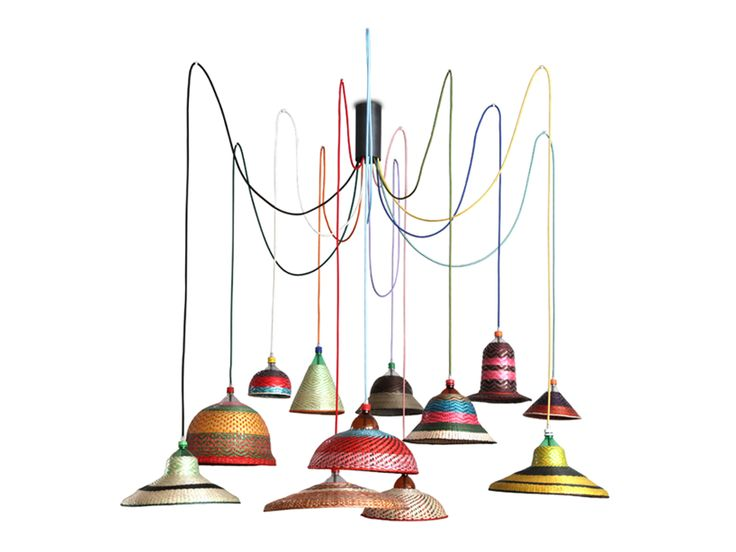 Pet bottle lamps by Alvara Catalan de Ocon in collaboration with ethnic groups from the Caucan region.