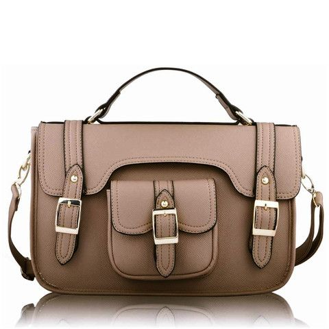 Satchels   Nude Classic Buckle Satchel Bag http://www.satchelsandshoes.co.uk/products/nude-classic-buckle-satchel-bag