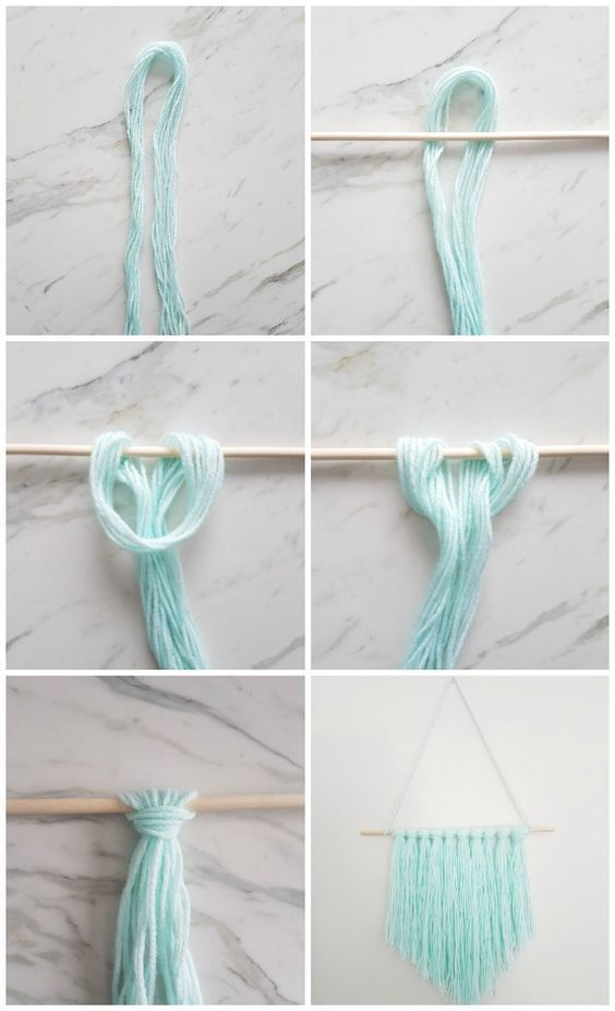 DIY Wall Hanging   Make this amazing yarn wall hanging with this easy to follow tutorial in 15 minutes or less! Click through for the steps and 3 simple materials you need to make it!