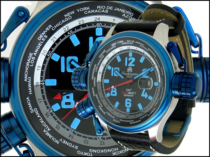 Tauchmeister 1937 Swiss GMT Pilot T0186 horloge   Grote horloges   http://www.kish.nl/Tauchmeister-1937-Swiss-GMT-pilot-T0186/   € 145.00